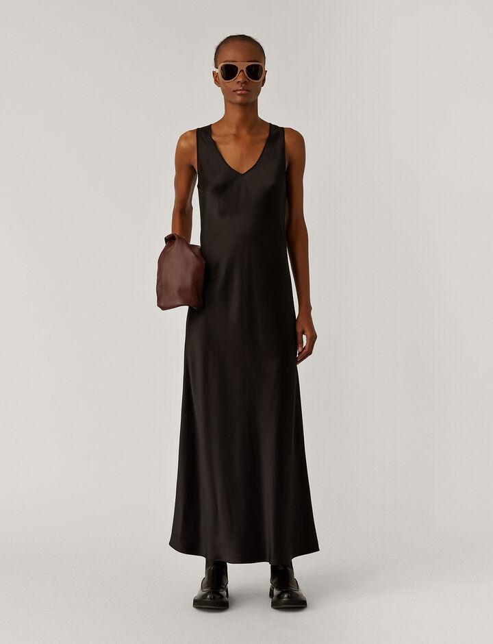 Joseph, Daris Silk Satin Dresses, in Black