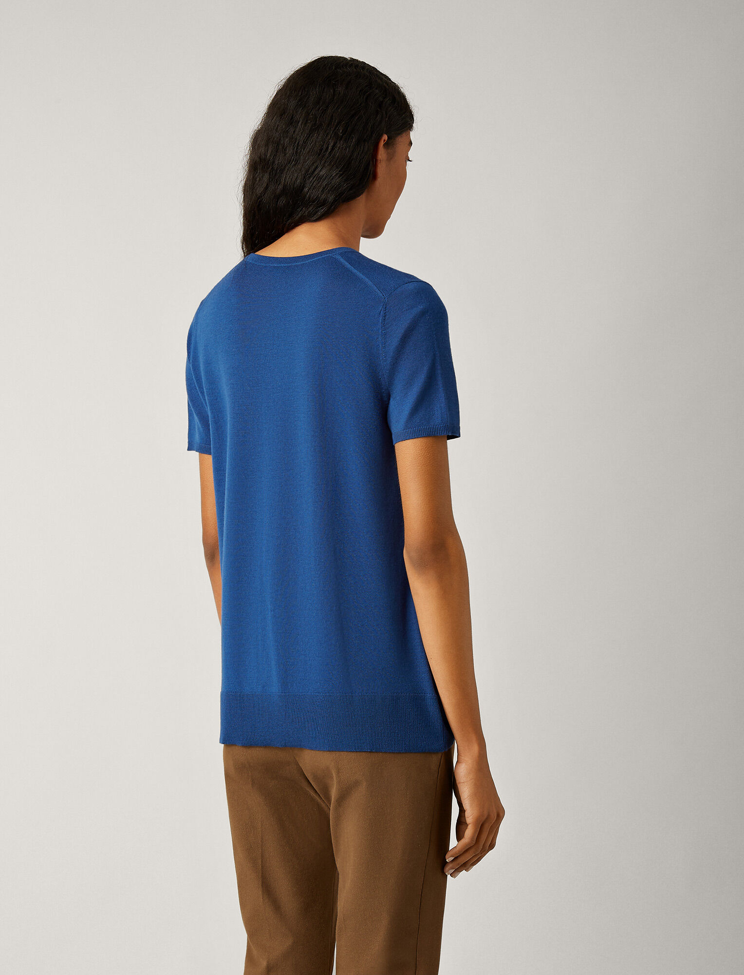 Joseph, Fine Merinos Knit Tee, in INK