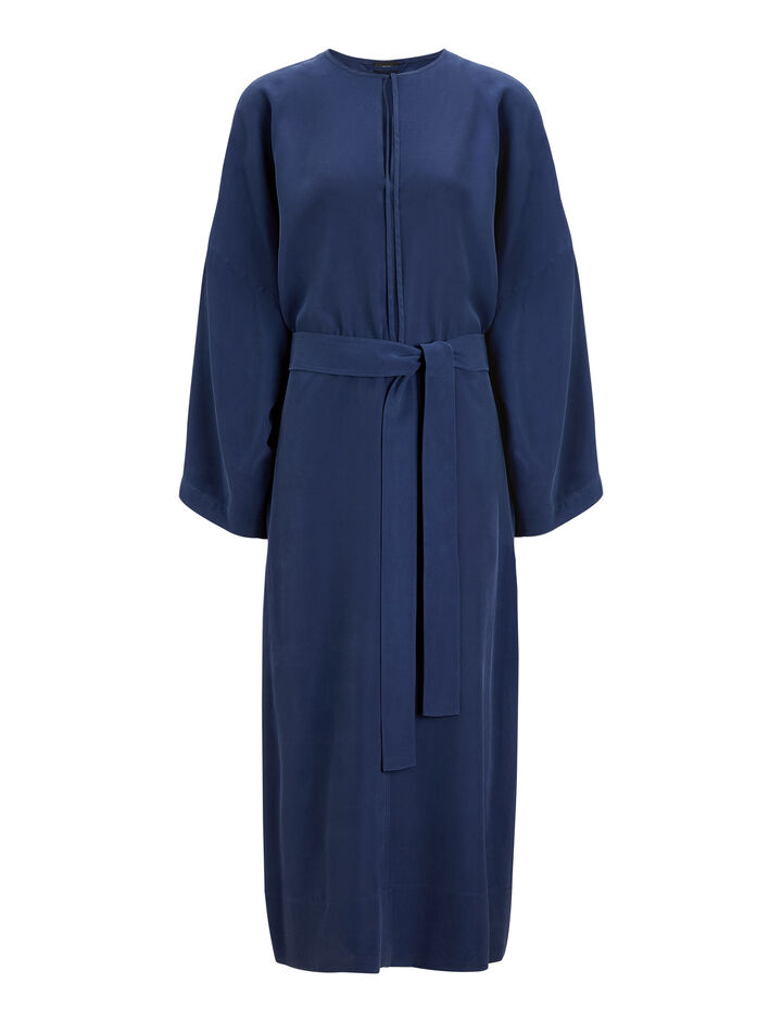 Joseph, Koda Silk Toile Dress, in INDIGO