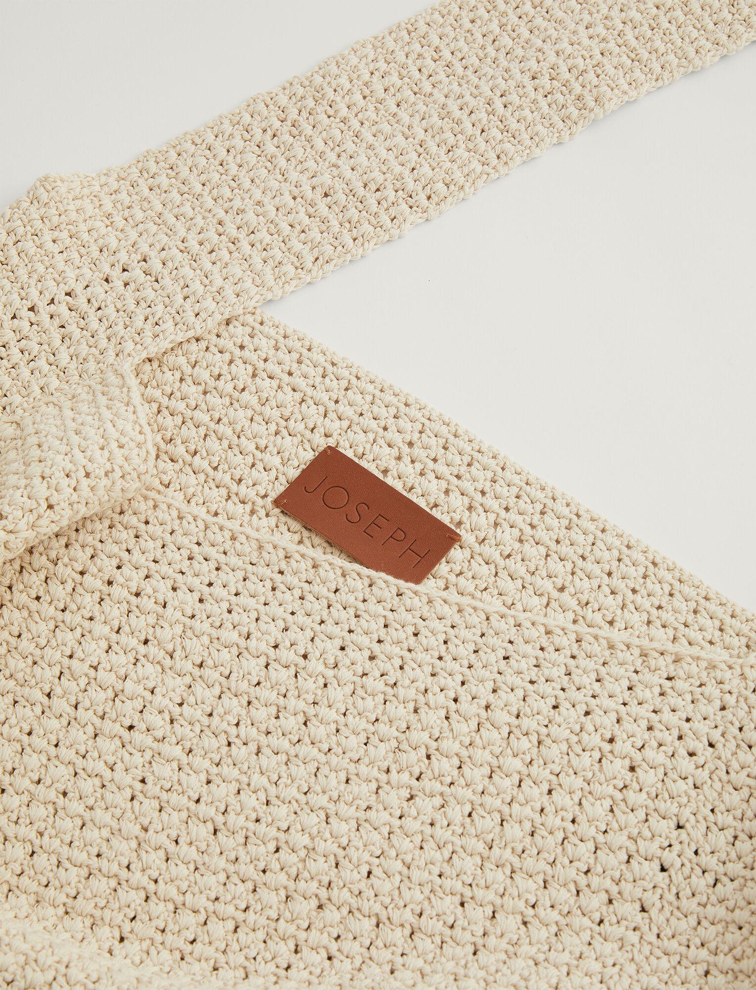 Joseph, Sac crocheté à la main en coton crispy, in PORCELAIN