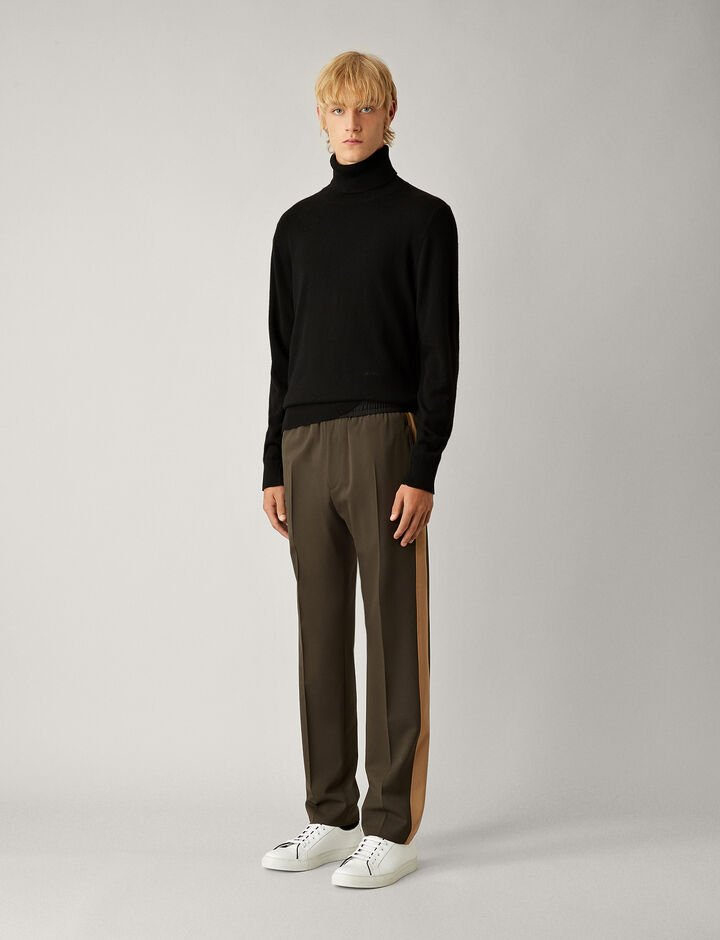 Joseph, Eza Techno Wool Stretch Trousers, in FOREST