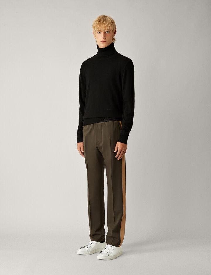 Joseph, Eza Techno Wool Stretch Trousers, in FOREST