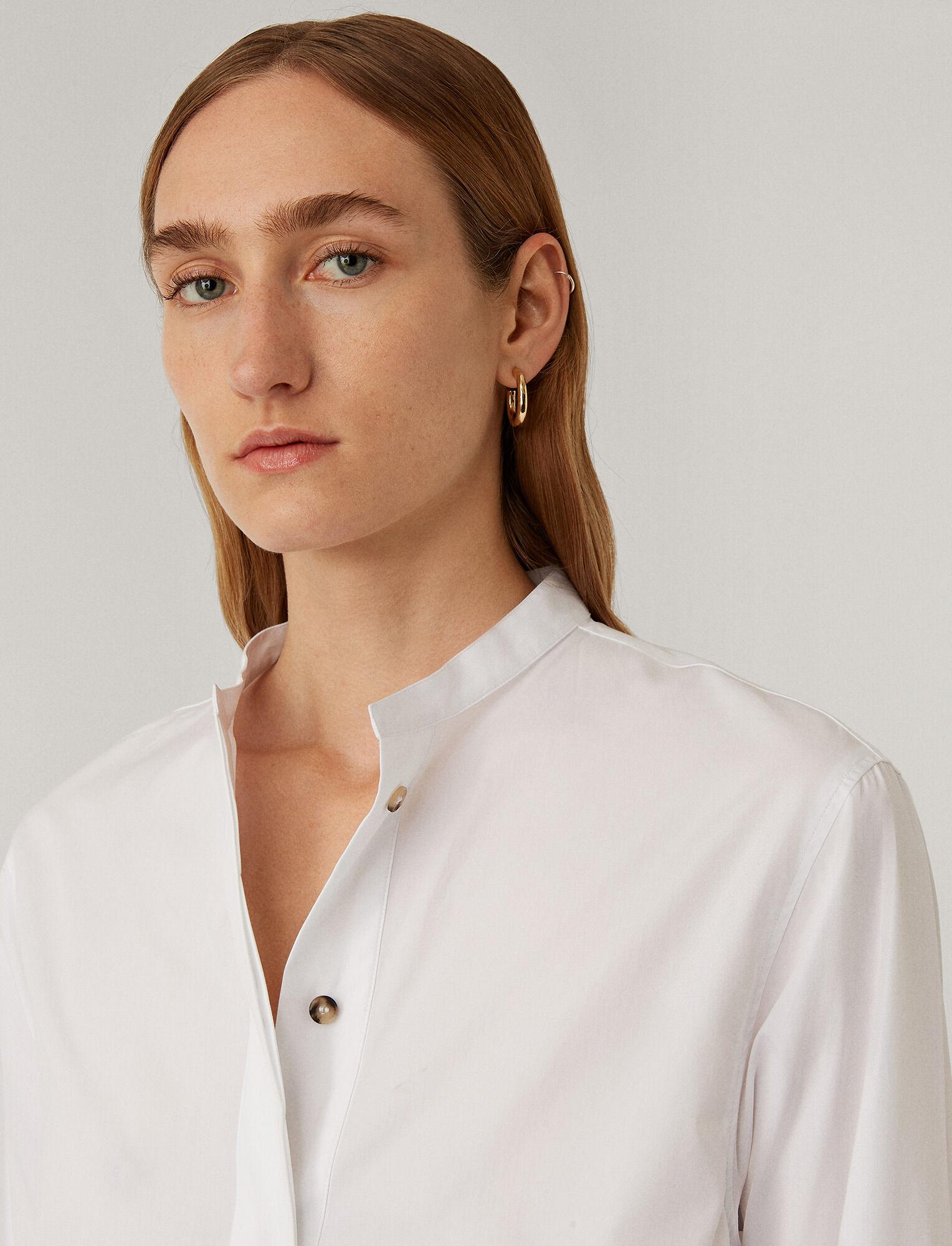 Joseph, Aufray Light Poplin Shirt, in WHITE