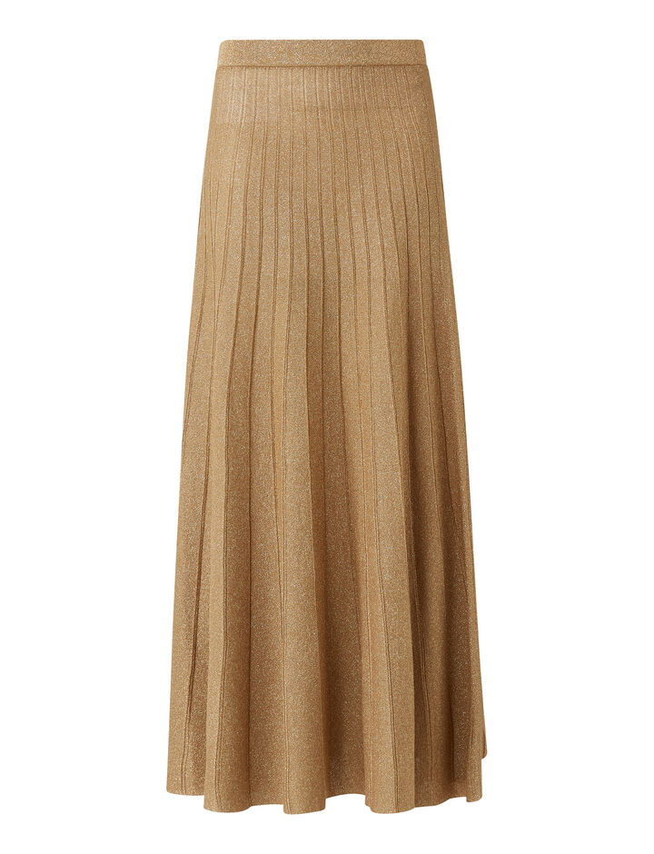 Joseph, Lurex Skirt, in TAN