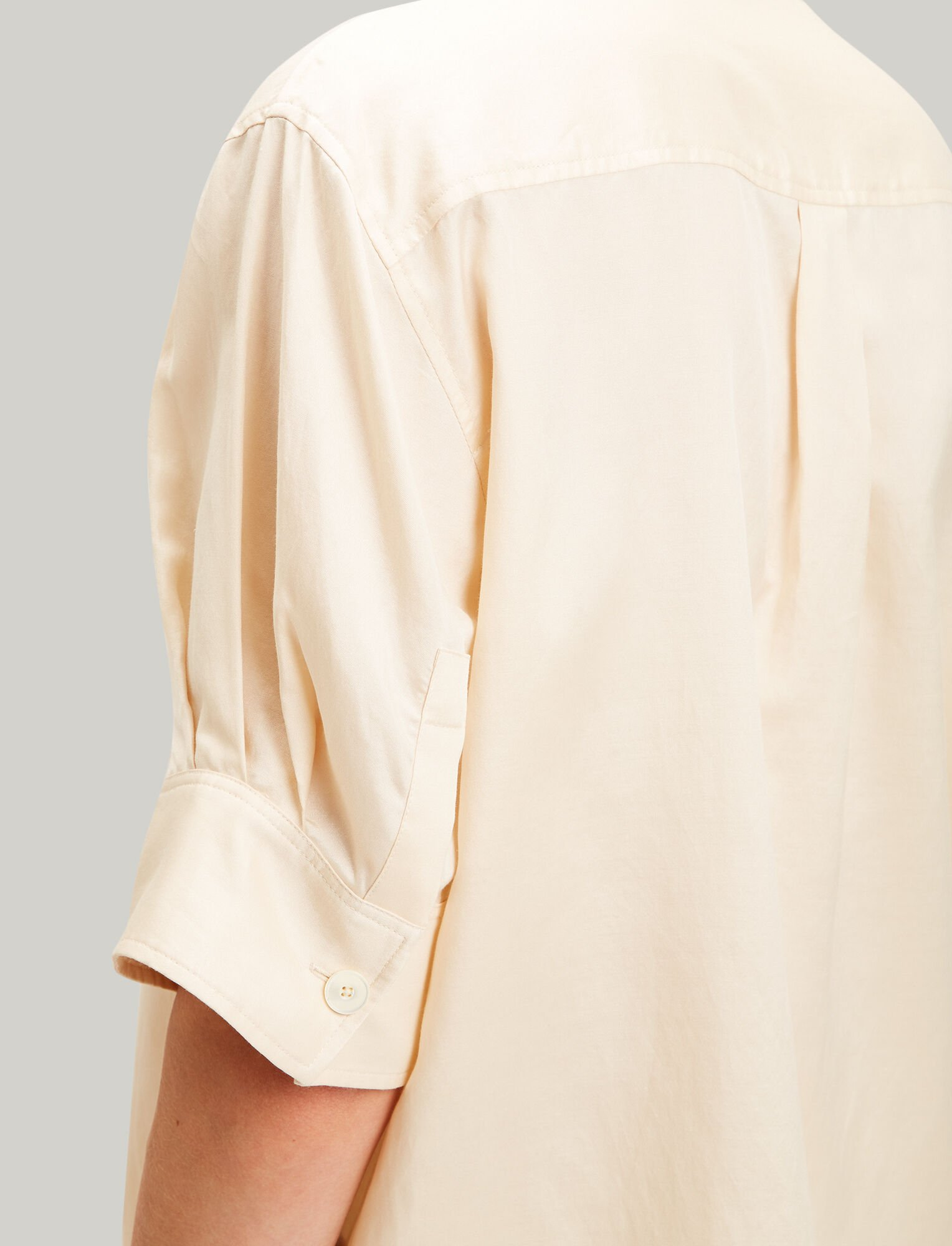 Joseph, Jay Cotton Silk Shirting Blouse, in BUTTER