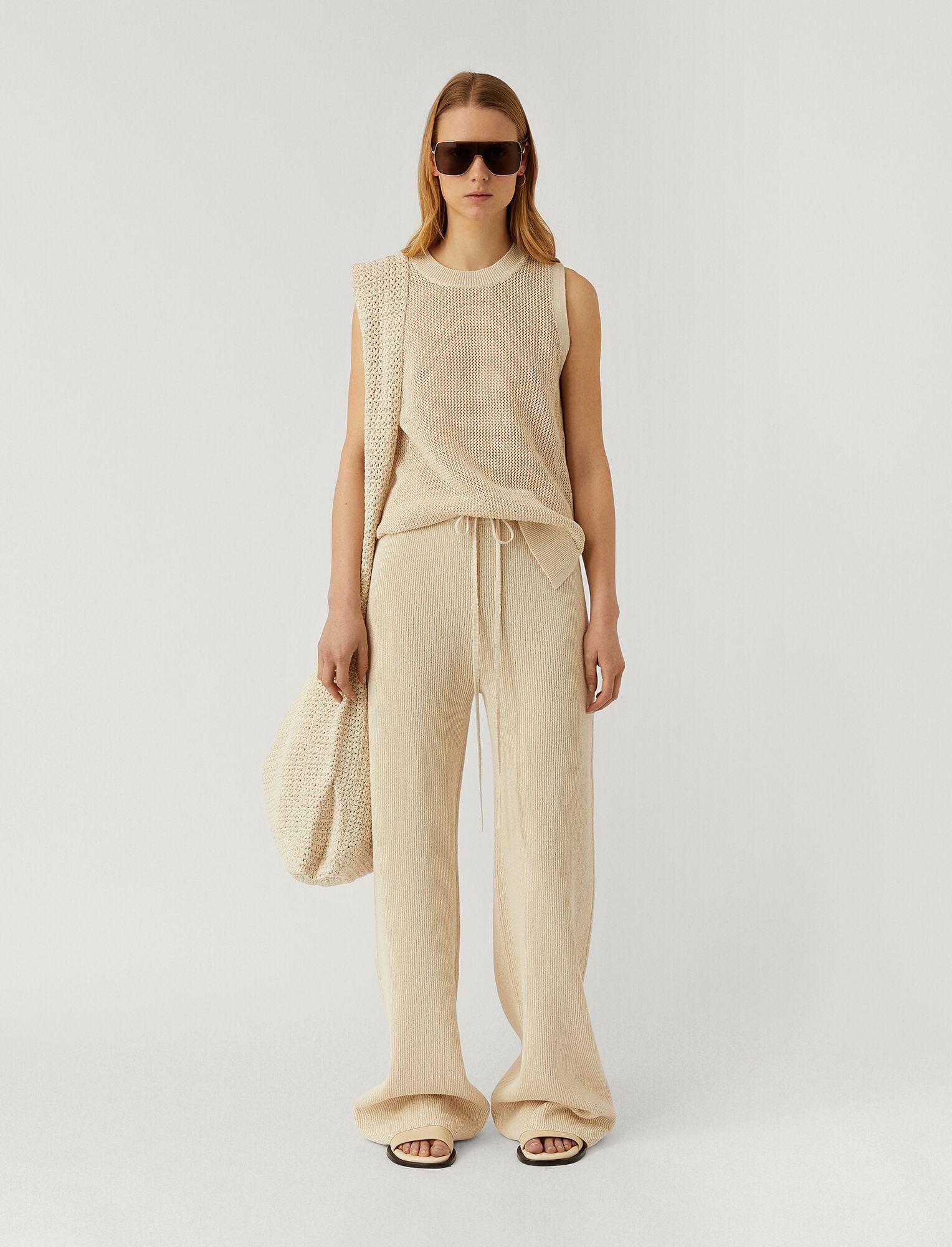 Joseph, Crispy Cotton Trousers, in PORCELAIN