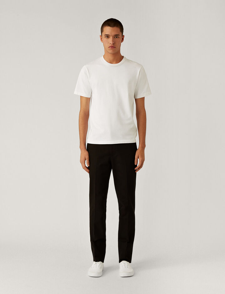 Joseph, City Gabardine Stretch Trousers Trousers, in Black