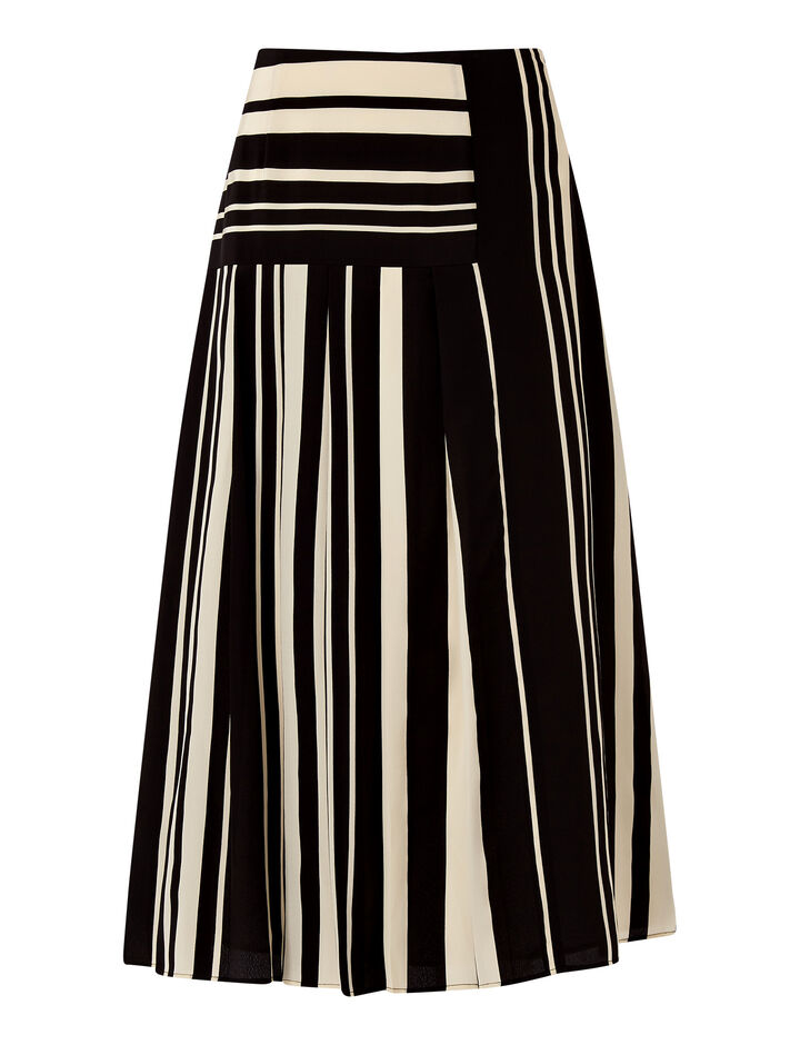 Joseph, Swanson-Silk Stripes, in GREY/BLACK