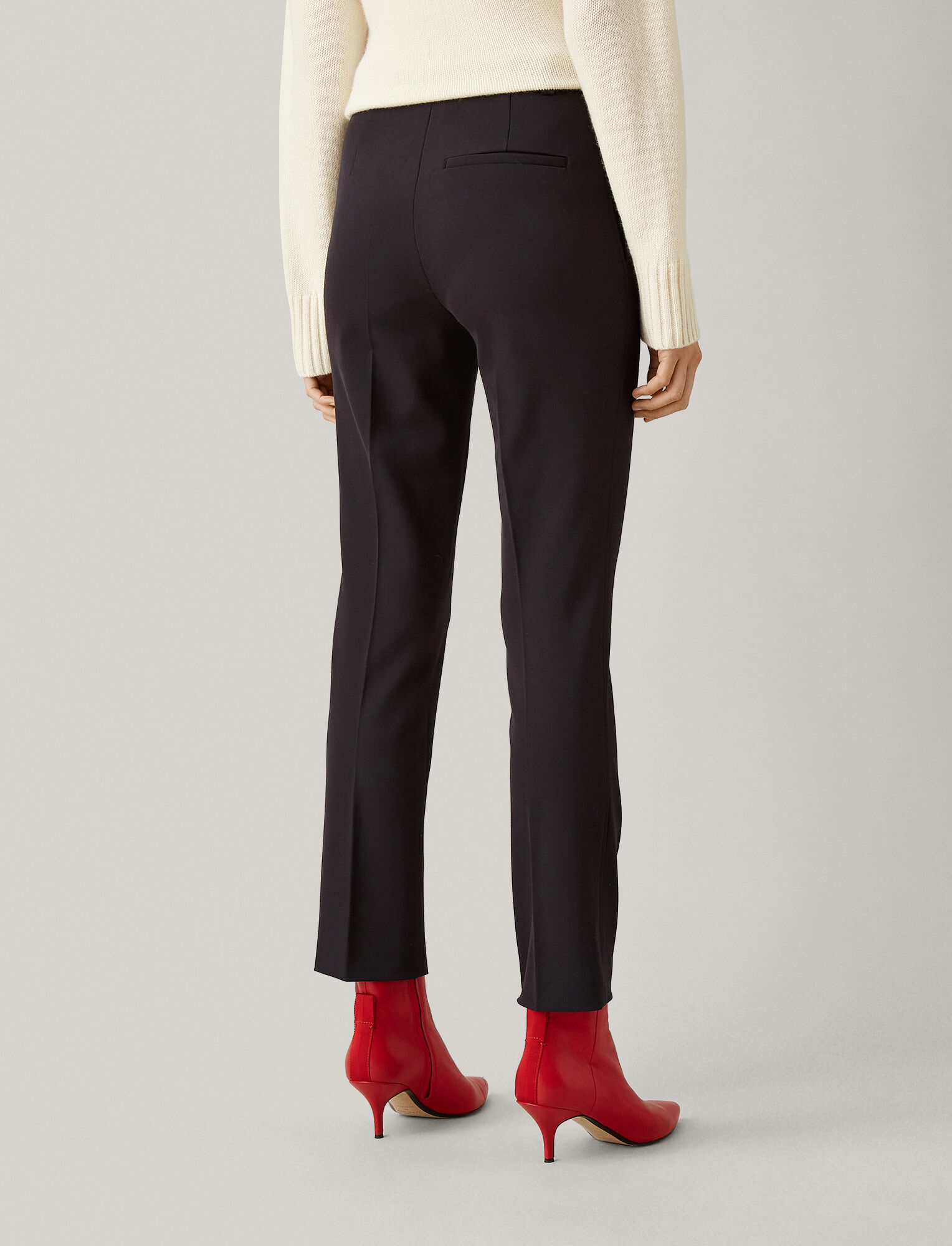 Joseph, Zoom Comfort Wool Trousers, in NAVY