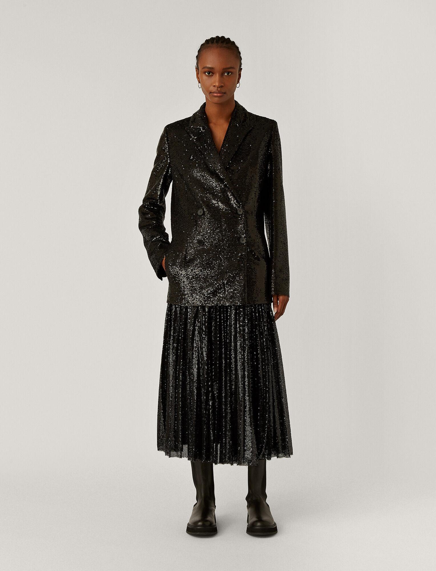 Joseph, Sequin Juliette Jacket, in BLACK