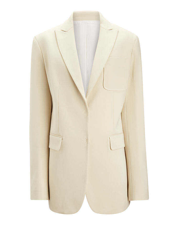 Joseph, Hesston Cotton Viscose Stretch Blazer, in BONE