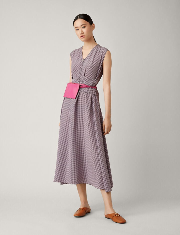 Joseph, Tess Pied De Poule Dress, in LAVENDER