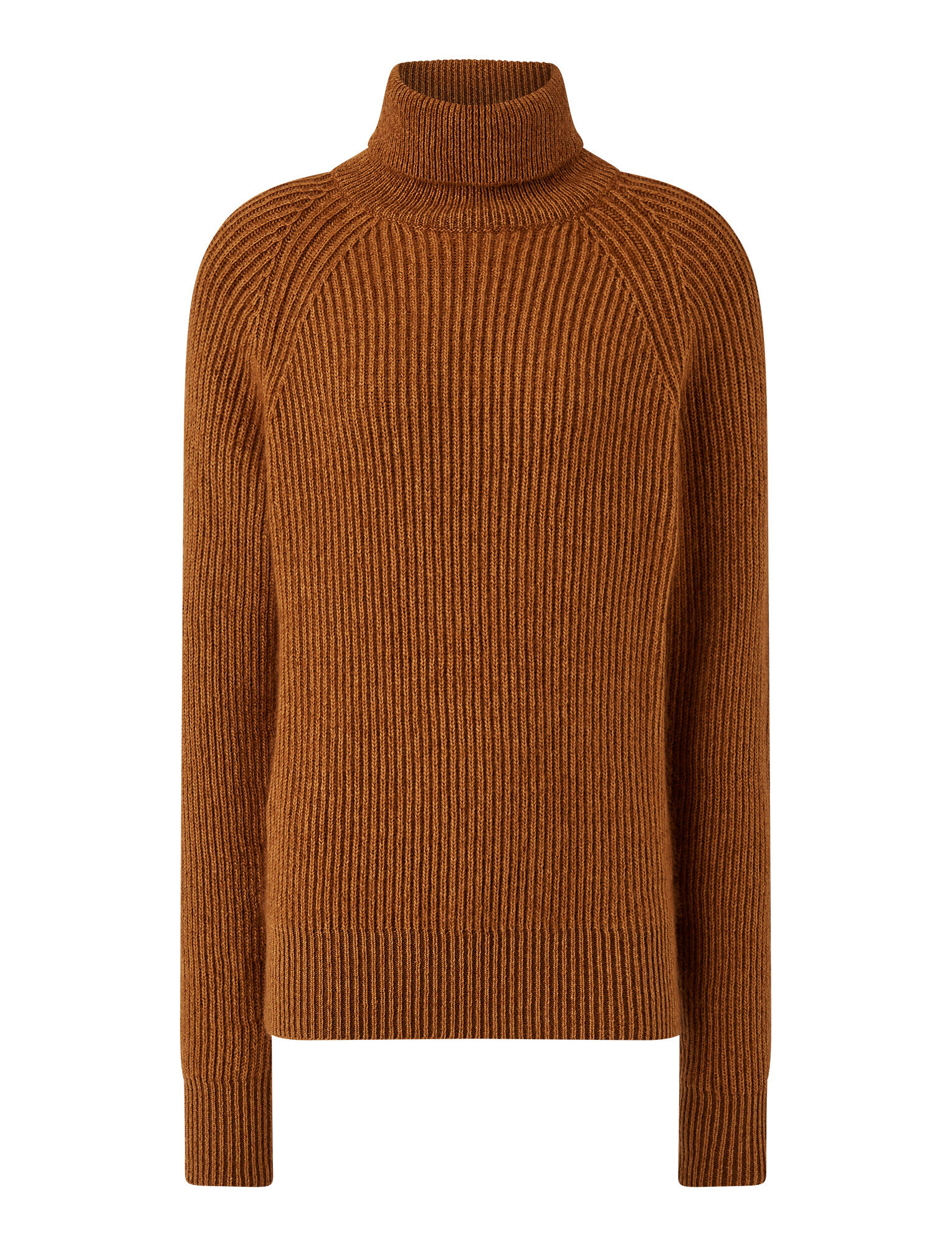 Joseph, High Neck Cote Anglaise Novelty Knit, in Camel