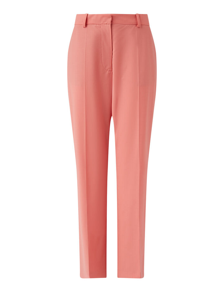 Joseph, Coleman Light Wool Suiting Trousers, in Peony