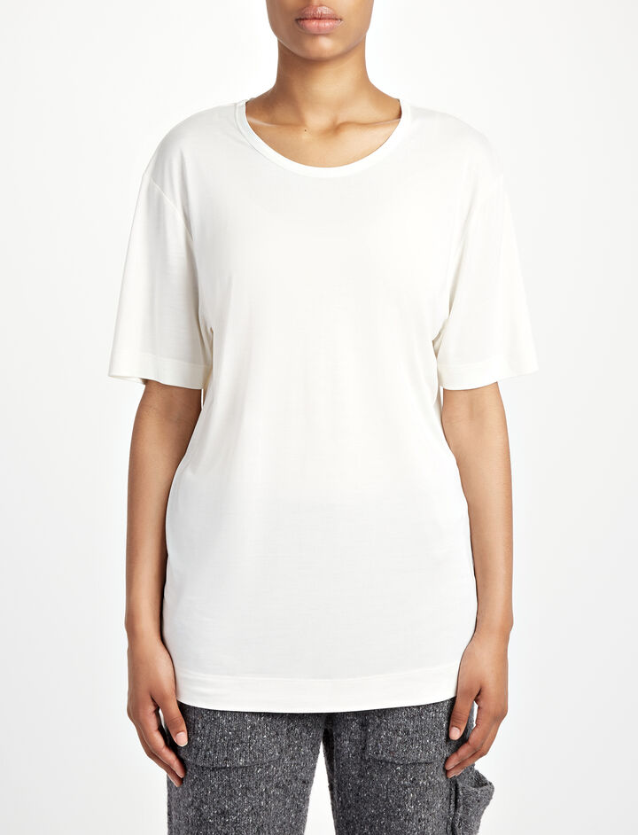Joseph, Silk Jersey Top, in WHITE