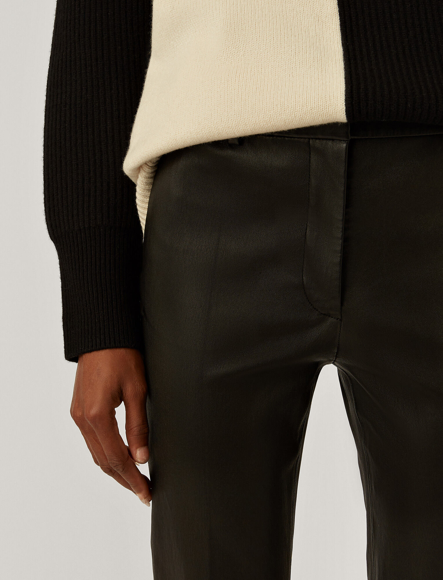 Joseph, Coleman Stretch Leather Trousers, in BLACK