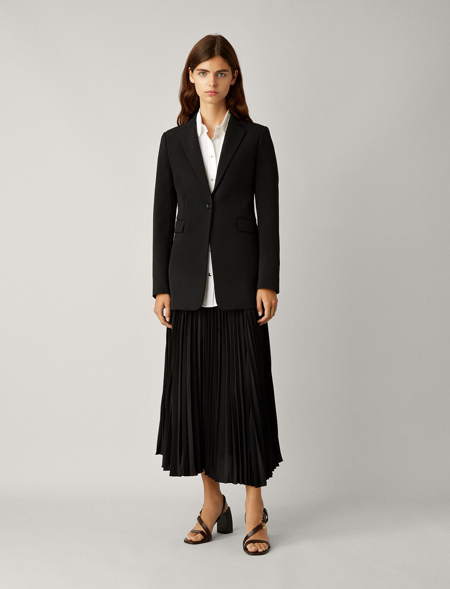 Joseph, Lorenzo Comfort Wool Jacket, in BLACK