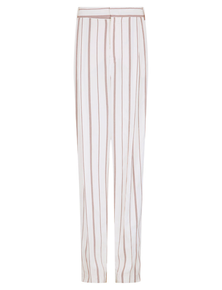 Joseph, Linn Rayon Stripe Trousers, in RUBY