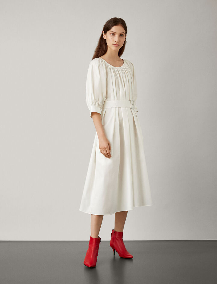 Joseph, Shan Cotton Dress, in OFF WHITE