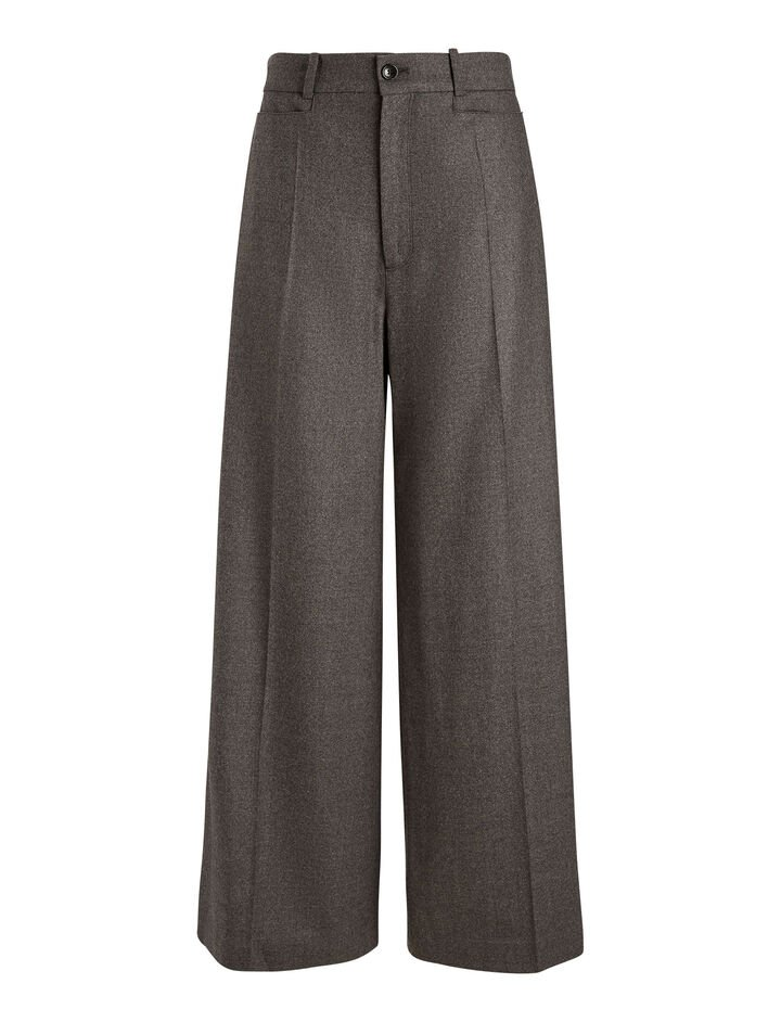 Joseph, Dana Flannel Stretch Trousers, in CHARCOAL