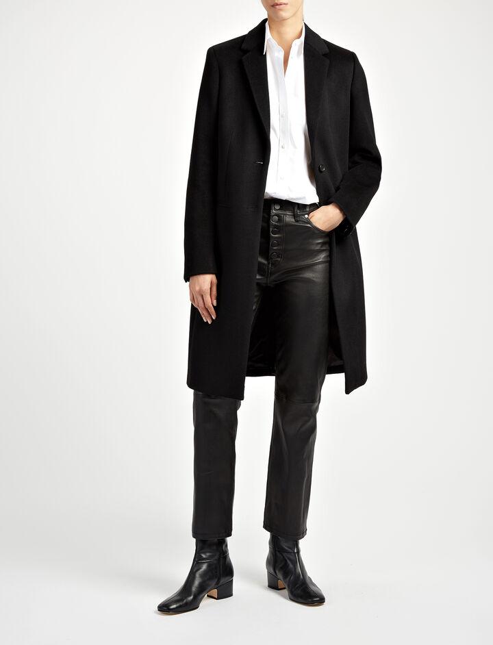 Joseph, New Wool Coat Martin Coat, in BLACK