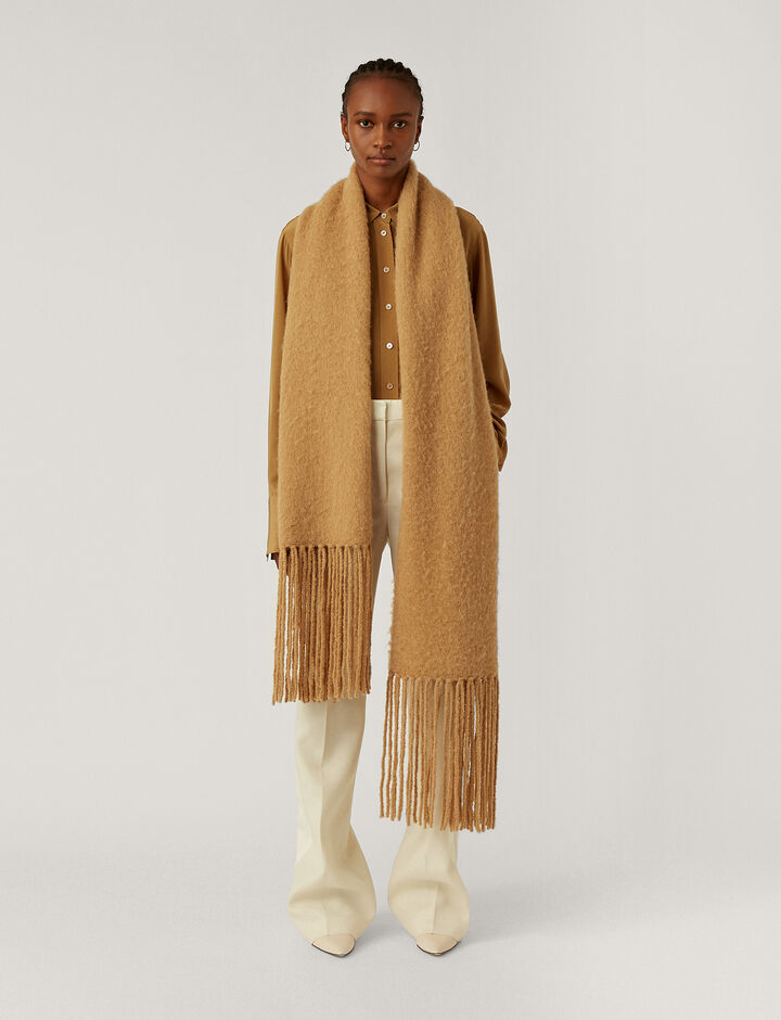 Joseph, Scarf-Brushed Knit, in CAMEL