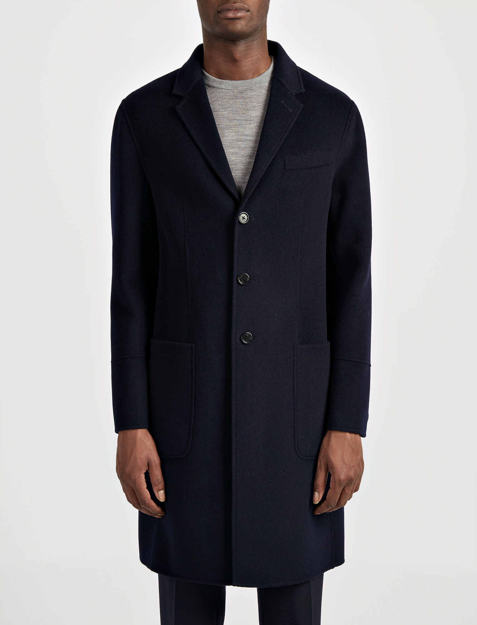Joseph, Double Wool Bentley Coat, in INK