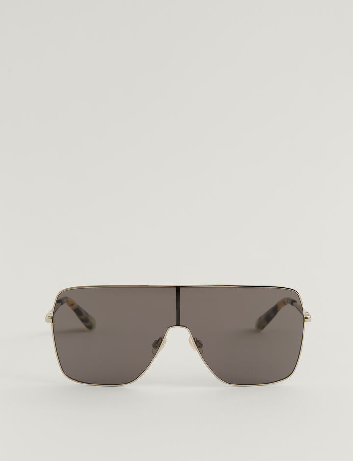 Joseph, OVERSIZED D-FRAME SUNGLASSES, in TITANIUM