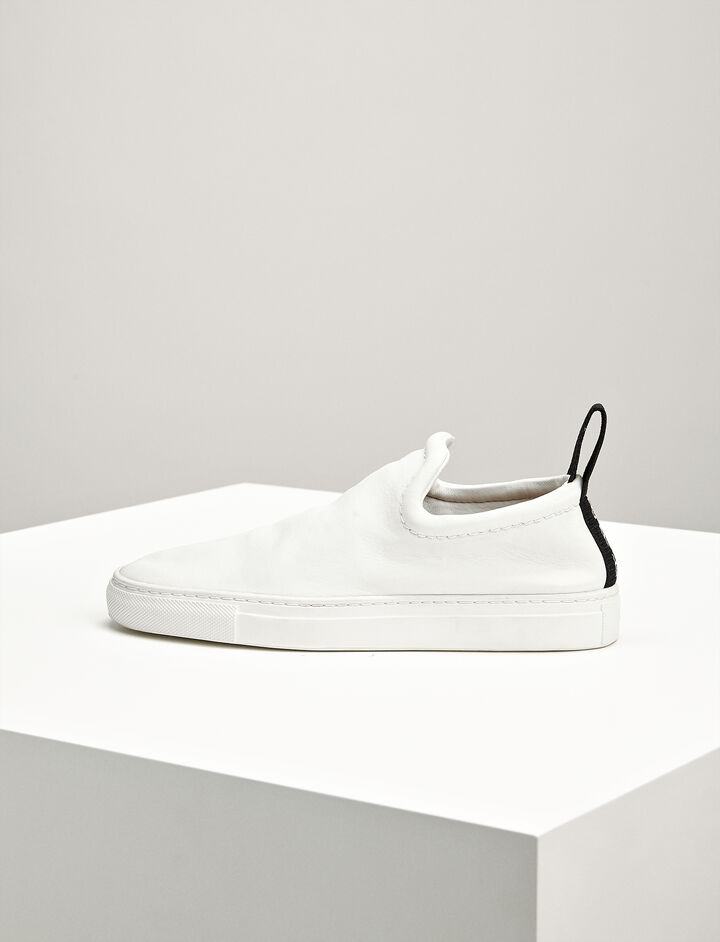 Joseph, Leather Dogtown Trainers, in WHITE
