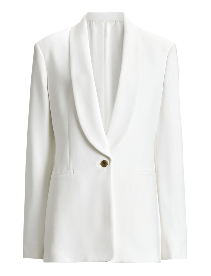 Joseph, Kwatu Stretch Acetate Viscose Jacket, in WHITE