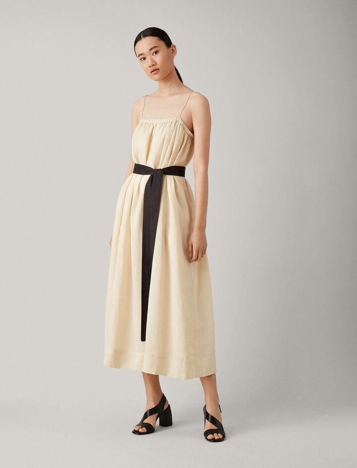 Joseph, Tilda Ramie Voile Dress, in PEARL