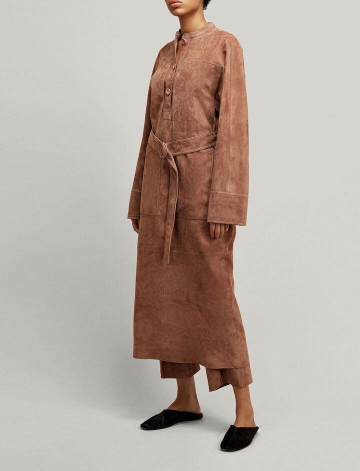 Joseph, Fort Suede Dress, in ROSE