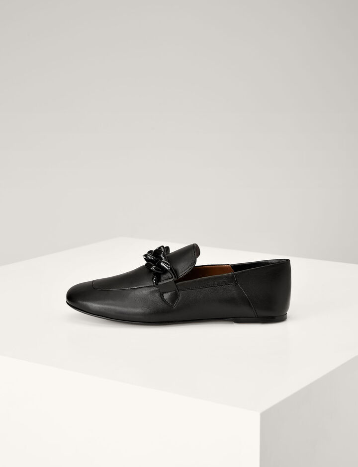 Joseph, Ripley Leather Loafer, in BLACK
