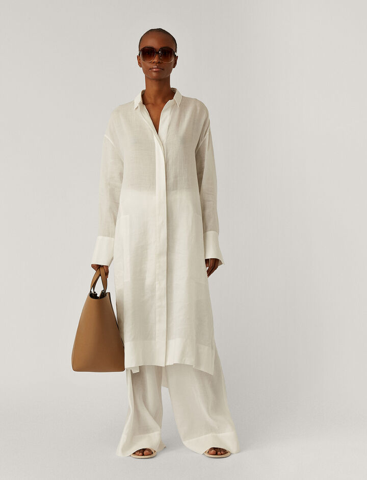 Joseph, Daga Ramie Voile Dresses, in Off White