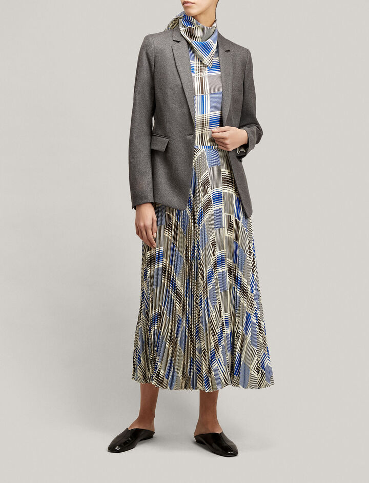 Joseph, Prisca Flannel Stretch Jacket, in CHARCOAL