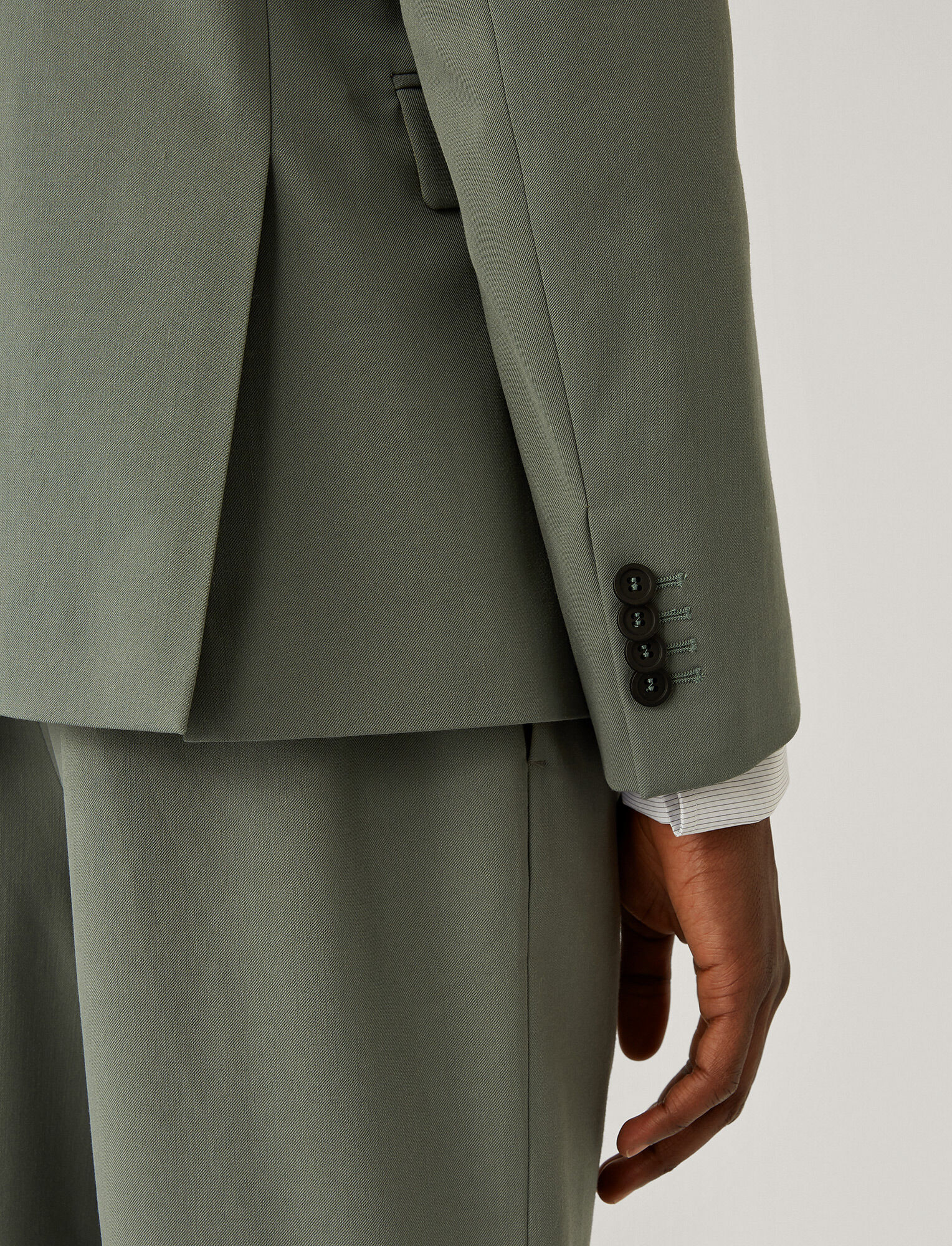 Joseph, Cannes Techno Wool Stretch Jacket, in SAGE