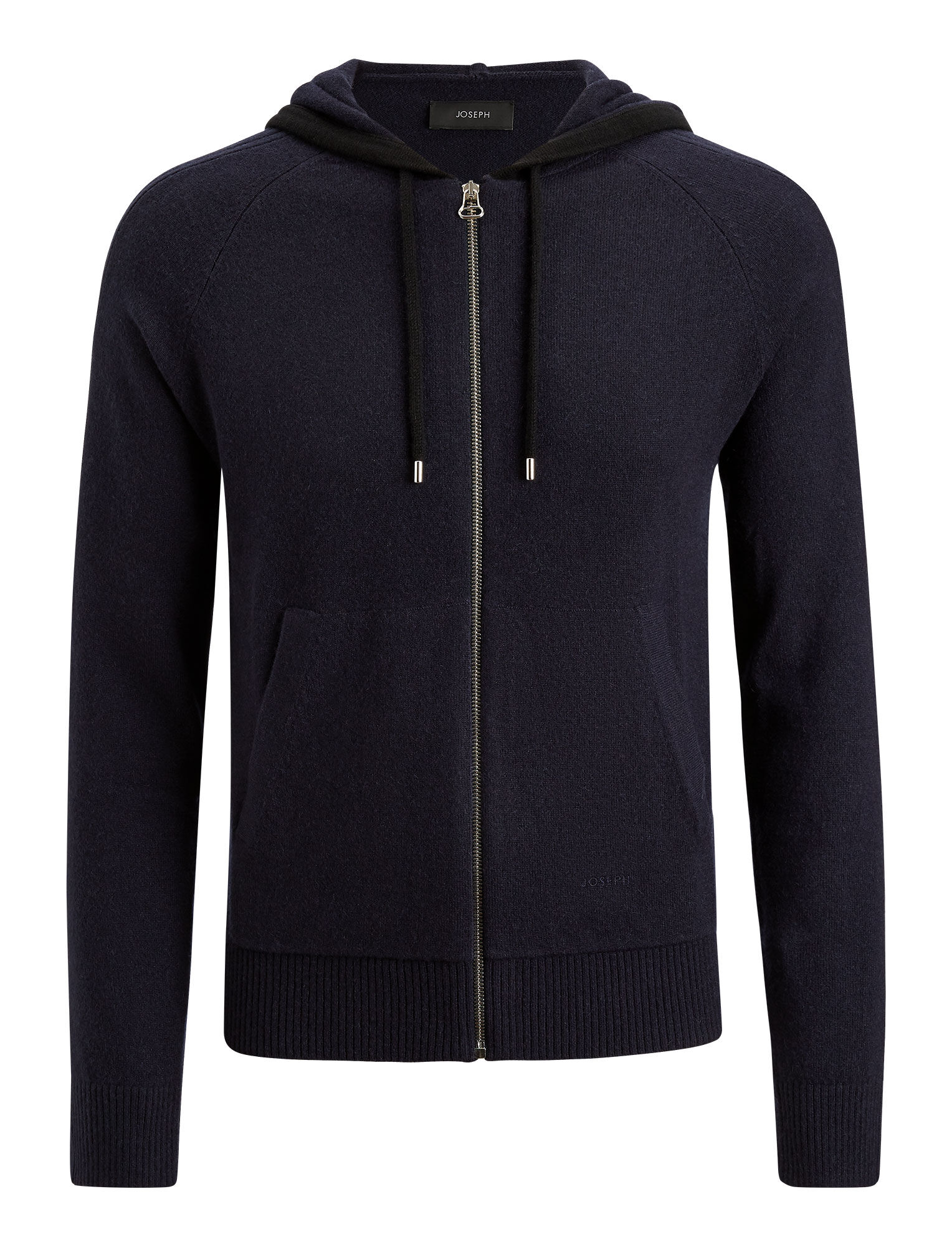 Joseph, Mongolian Cashmere Knit Hoodie, in NAVY