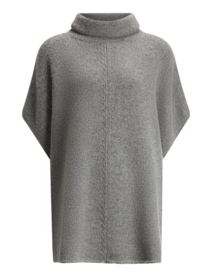 Joseph, Poncho Wool Cashmere Knit, in DARK GREY