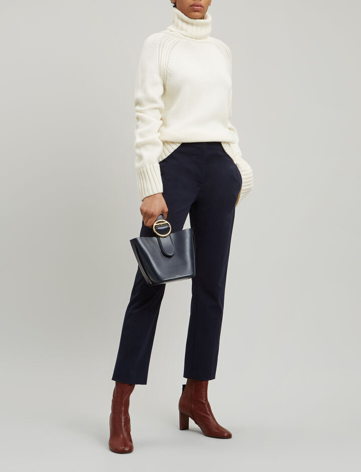 Joseph, Zoom Cotton Stretch Trousers, in NAVY