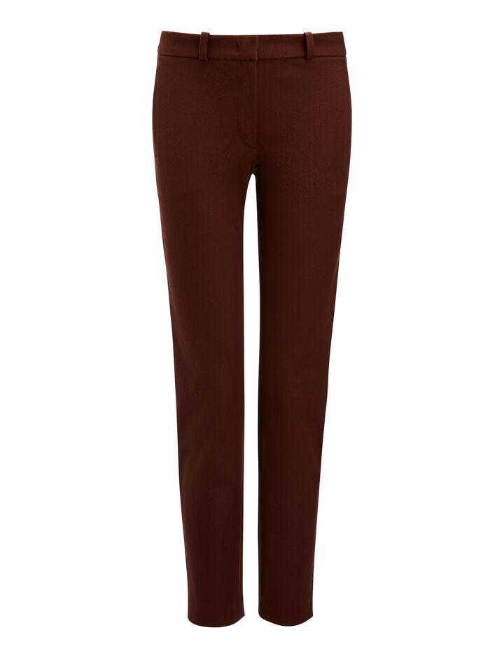 Joseph, Gabardine Stretch New Eliston Trousers, in RUST