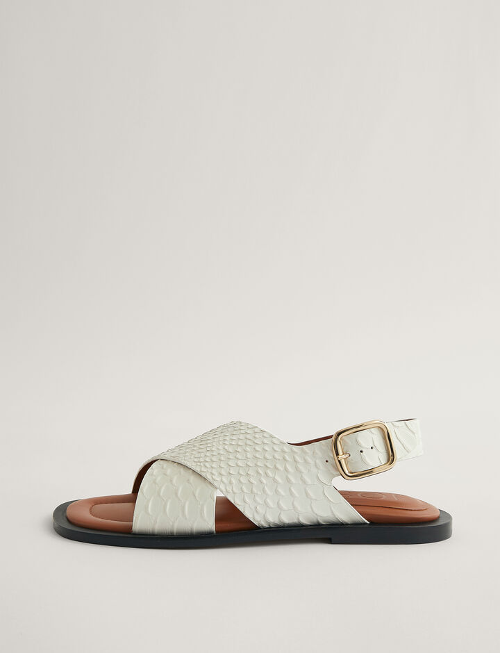 Joseph, Cross Strap Sandal, in WHITE