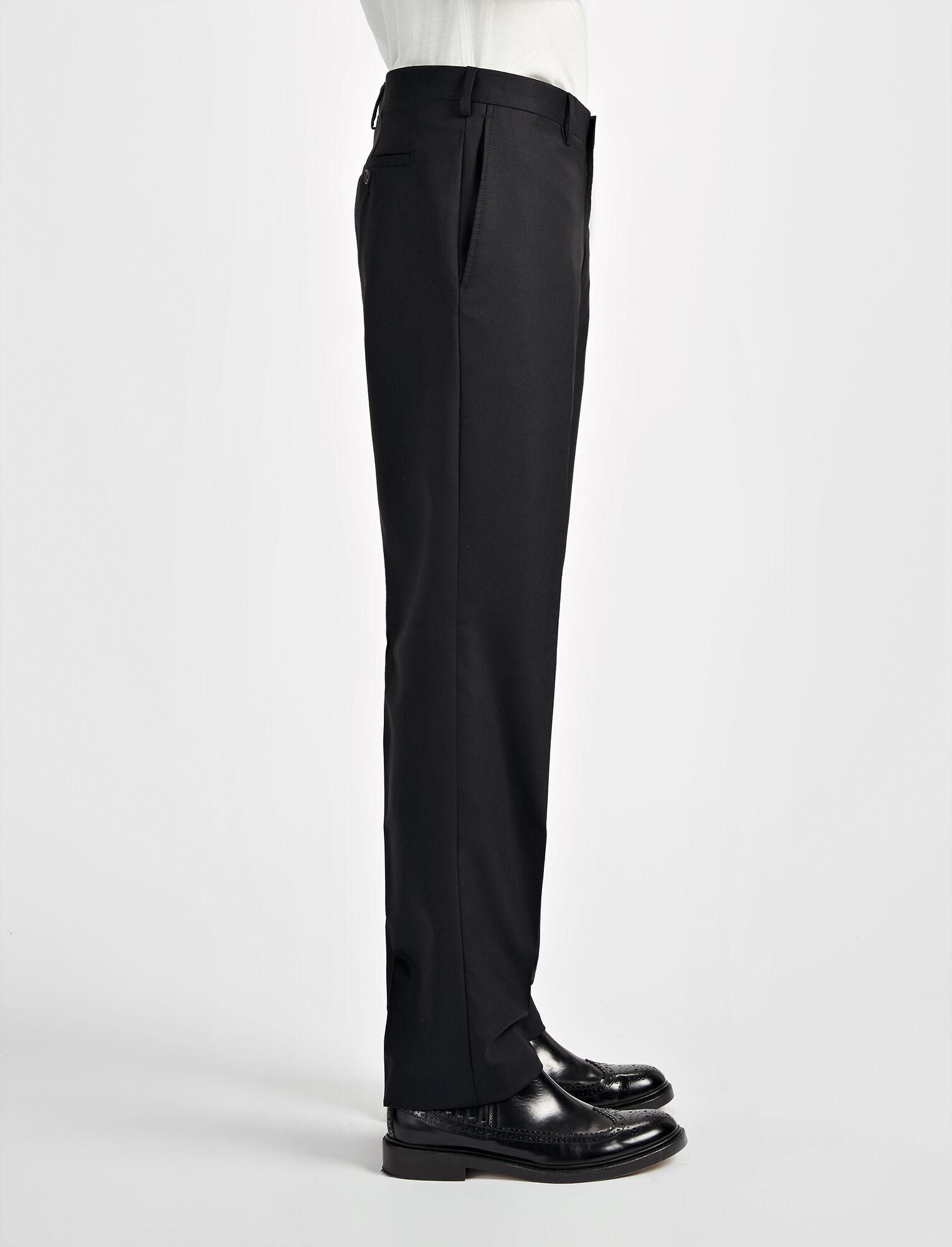 Joseph, Tropical Wool Darwin Suit Trouser, in BLACK