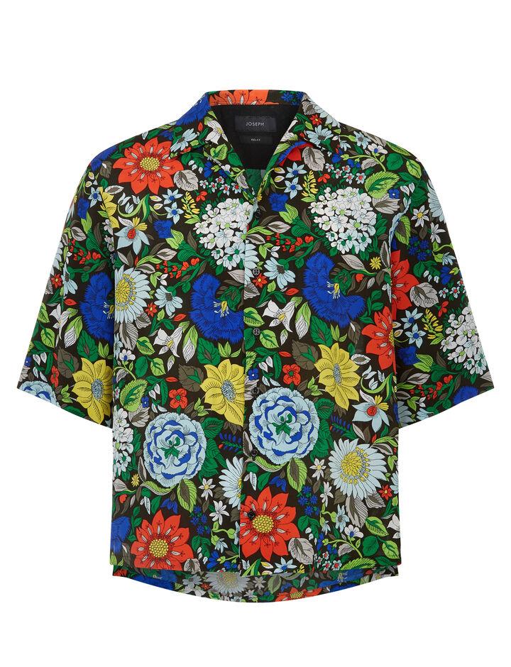 Joseph, Marittima Botanical Floral Shirt, in MULTICOLOUR