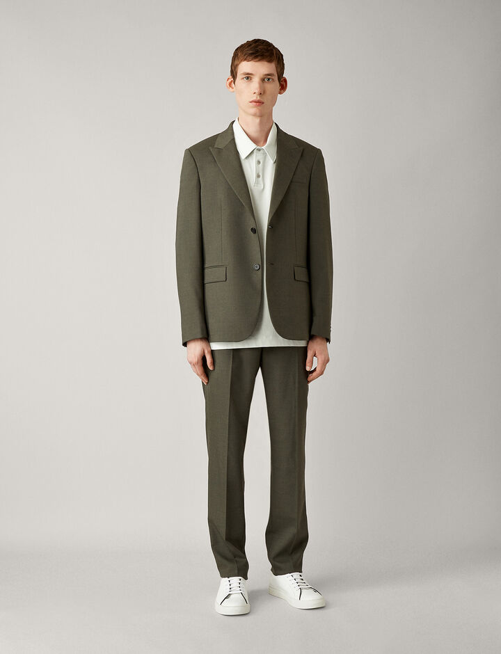 Joseph, Cannes-Flannel Stretch, in KHAKI