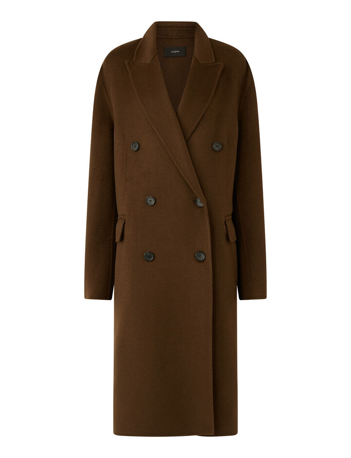 Joseph, Carles Dbl Face Cashmere Coats, in Moss