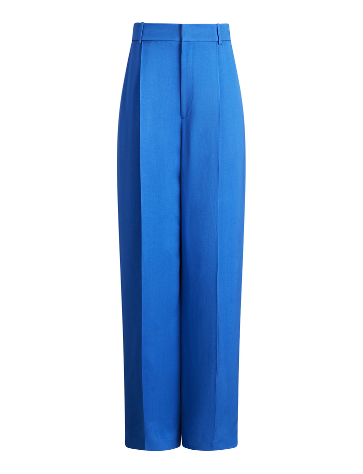 Joseph, Quarius Liquid Twill Trousers, in PLASTIC BLUE