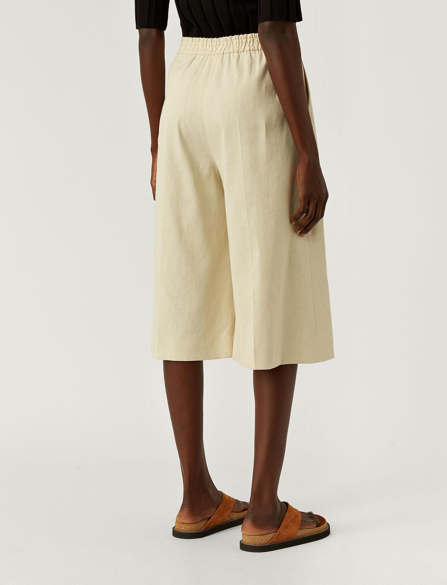 Joseph, Stretch Linen Tan Shorts, in OAT