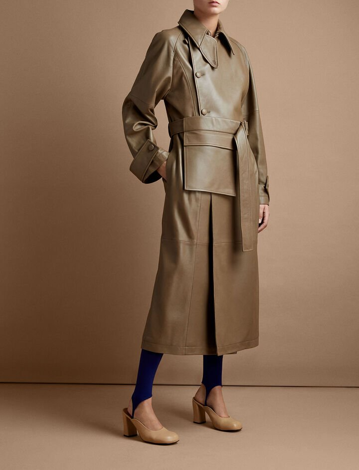 Joseph, Stafford Glove Leather Coat, in BURNT TOFFEE