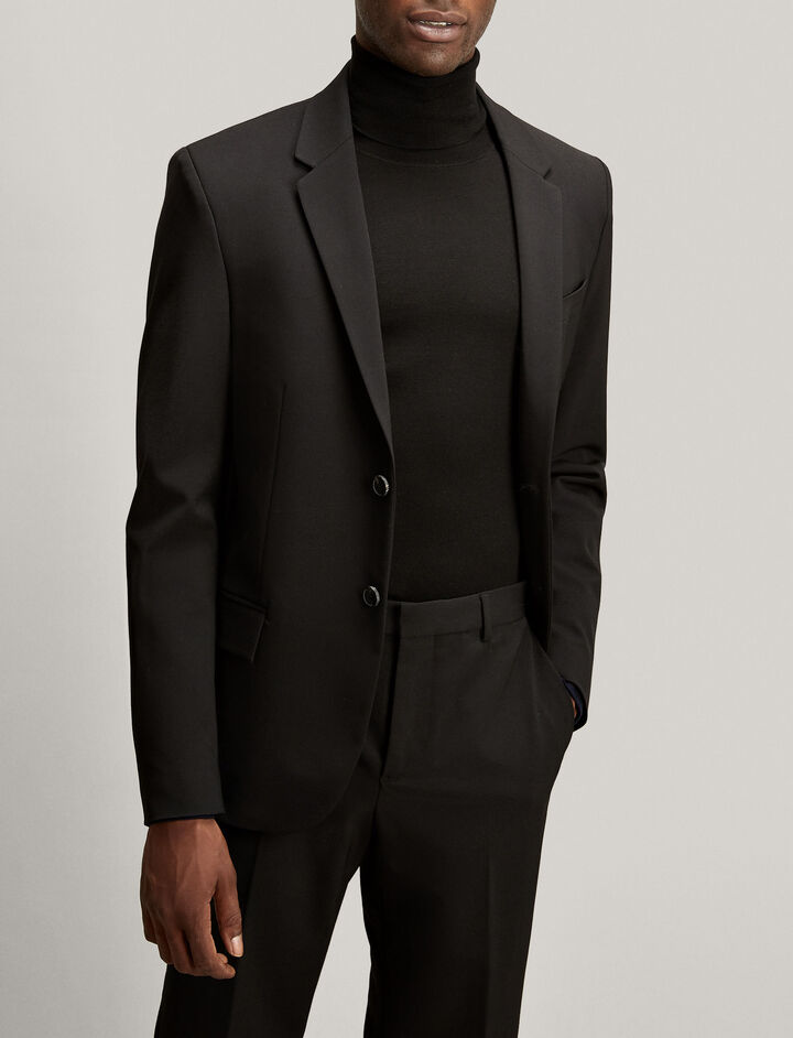 Joseph, Reading Techno Wool Stretch Jacket, in BLACK