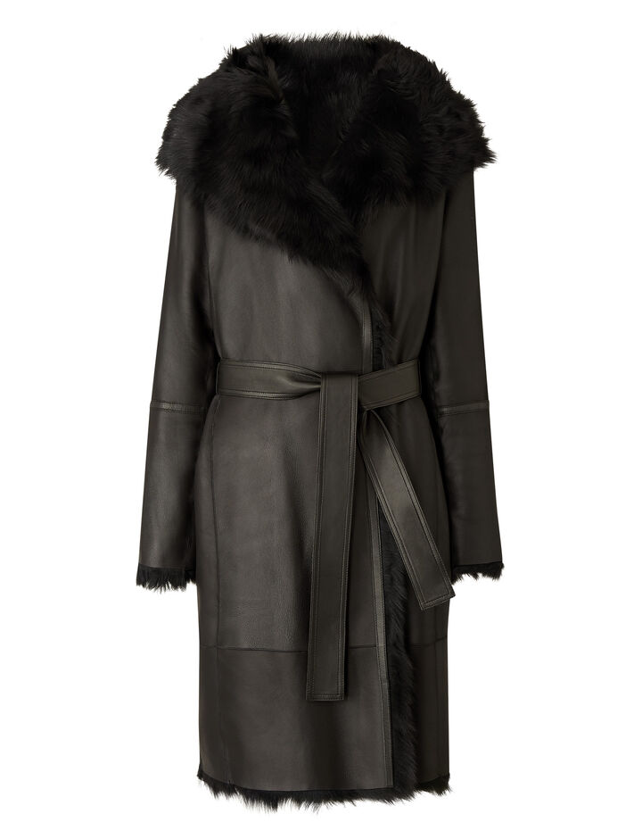 Joseph, Liman Soft Toscana Sheepskin, in BLACK